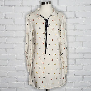 [Living Doll] Cream Colored Bird Tunic